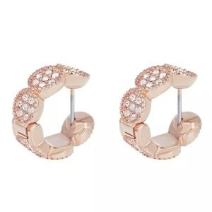 "Kate Spade ""Gatsby"" Rose Gold Huggie Earrings"